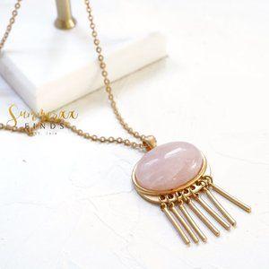 Madewell Rose Quartz Pendant Necklace